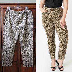 Collectif Plus Size Leopard Print skinny pants 16
